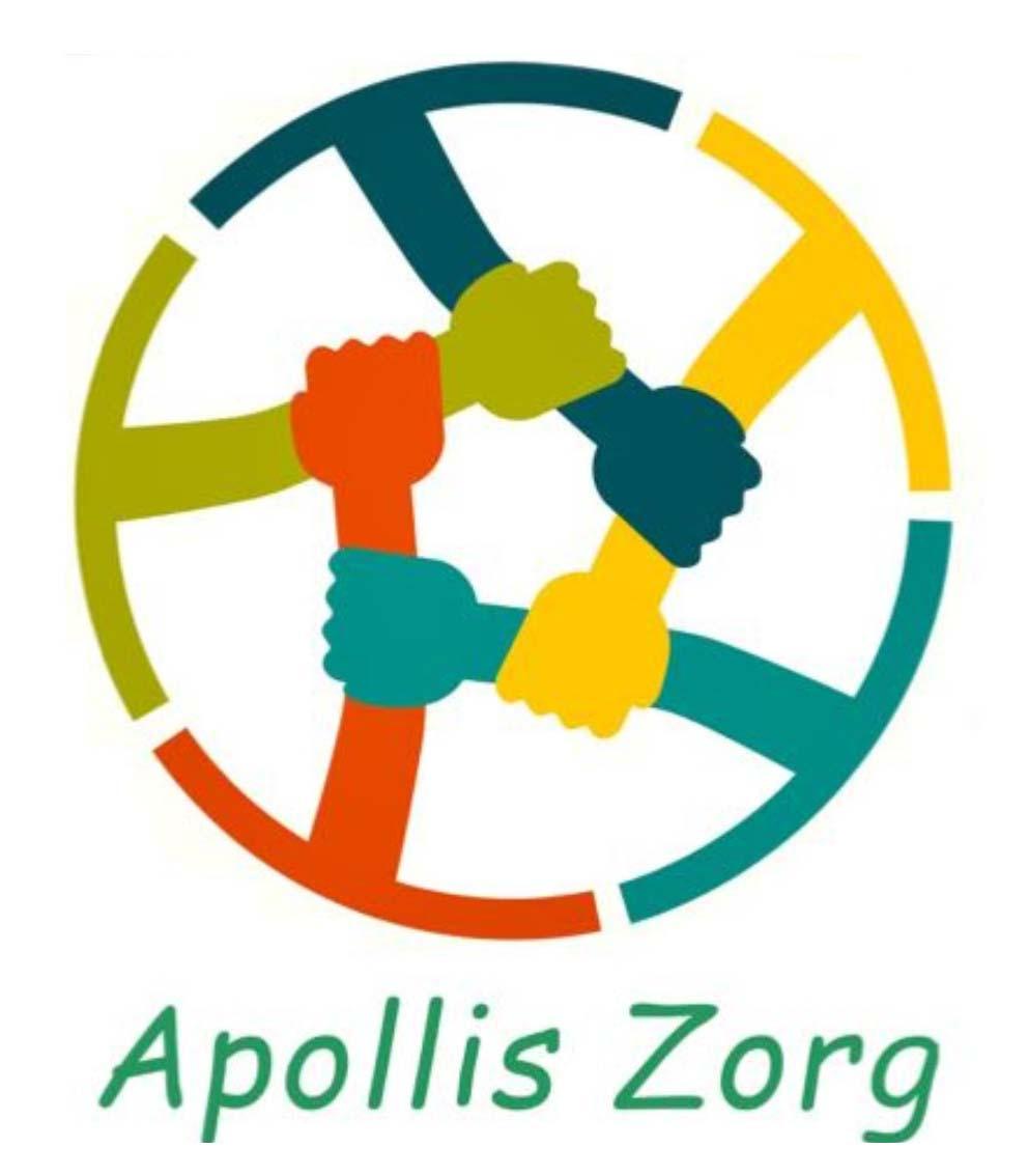 Individuele- en groepsbegeleiding - Kleurrijk logo van Apollis Zorg