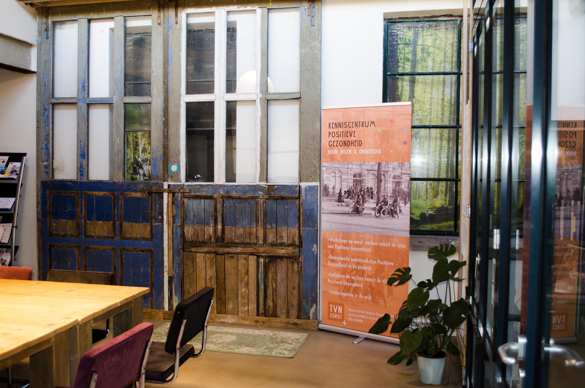 vergaderruimte kantoor van TVN Zorgt Nijmegen ook voor raad van commissarissen